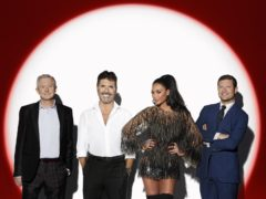 Judges Louis Walsh, Simon Cowell and Nicole Scherzinger and host Dermot O'Leary (Syco/Thames TV/PA)