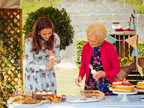The Duchess Of Cambridge with Mary Berry (BBC/Shine TV/Kensington Palace/PA)