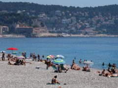 The beach front on the Promenade des Anglais, Nice (Brian Lawless/PA)