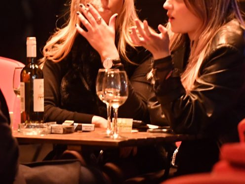 Scientists have found that regular drinkers and smokers appear to have slightly older brains than people who do not, or only occasionally, smoke or drink (John Stillwell/PA)