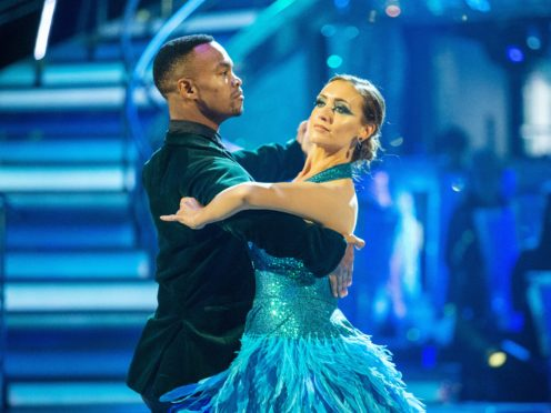 Johannes Radebe and Catherine Tyldesley on Strictly (Guy Levy/BBC)