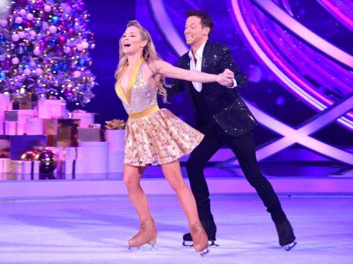Joe Swash and Alexandra Schauman in Dancing On Ice (Ian West/PA)