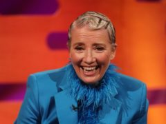 Dame Emma Thompson at the recording of The Graham Norton Show (Isabel Infantes/PA)