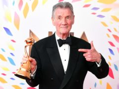 Michael Palin wins the Special Recognition Award during the National Television Awards at London's O2 Arena (Ian West/PA)