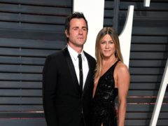 Justin Theroux was among Jennifer Aniston's celebrity friends wishing the actress a happy 51st birthday (PA)