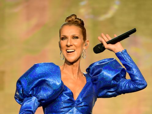 Celine Dion admits to singing another star's song to get ready for a gig (Ian West/PA)