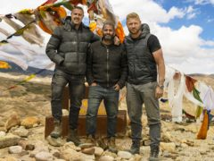Paddy McGuinness, Chris Harris and Andrew 'Freddie' Flintoff (Lee Brimble/BBC)