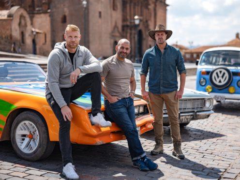 Top Gear hosts Freddie Flintoff, Chris Harris and Paddy McGuinness (Lee Brimble/BBC)