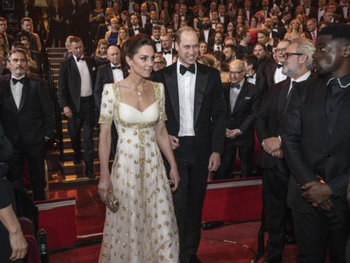 The Duke and Duchess of Cambridge attend the EE British Academy Film Awards (Jeff Gilbert/The Daily Telegraph)