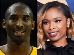 Kobe Bryant and Jennifer Hudson (Andrew Matthews/Matt Crossick/PA)