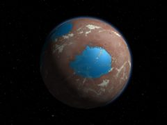 An illustration of what early Mars may have looked like (Simone Marchi/SwRI)