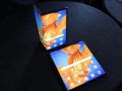 The new Huawei Mate Xs foldable smartphone (Martyn Landi/PA)