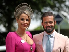 Vogue Williams and Spencer Matthews announce 'exciting but scary' baby news (Steve Parsons/PA)