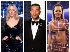 Ellie Goulding, John Legend and Rita Ora (PA)