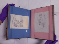 A family album unearthed last year contains depictions of Florence Nightingale (Yui Mok/PA)