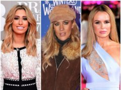 Caroline Flack, Stacey Solomon and Amanda Holden (PA)