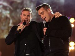 Gary Barlow and Robbie Williams (Yui Mok/PA)