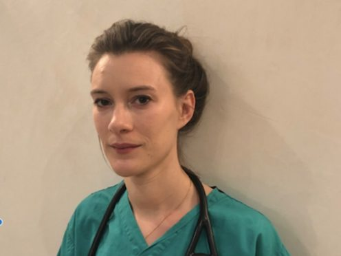 Katie Sanderson is a junior doctor who has been working on a coronavirus ward in London (handout/PA)