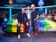 Top Gear presenters (left to right) Freddie Flintoff, Paddy McGuinness and Chris Harris (BBC/PA)