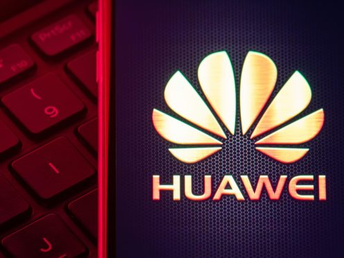 """File photo dated 28/01/20 of the Huawei logo. Excluding Huawei from Britain's 5G network will """"significantly set back"""" the Government's ambitions to extend broadband access, a former chairman of BT has warned."""