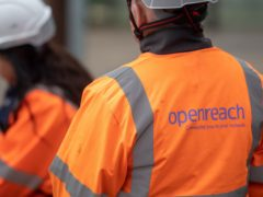 Openreach said engineers have limited their time in premises since the pandemic began (Joe Giddens/PA)