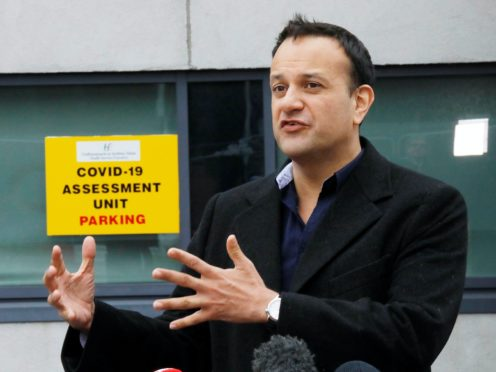 Leo Varadkar announced plans for exiting lockdown on May 1 (Leon Farrell/Photocall Ireland/PA)