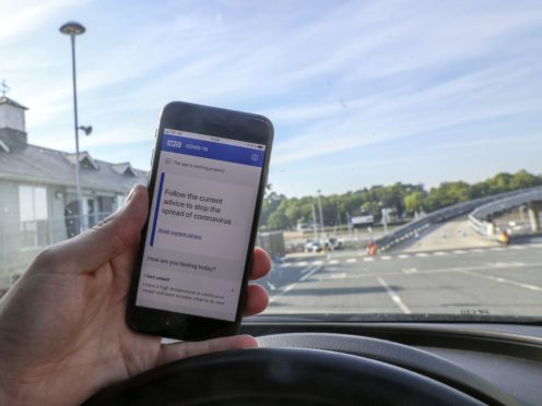 NHS Covid-19 contact tracing app is currently being trialed on the Isle of Wight (Steve Parsons/PA)