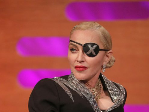 Madonna during filming for the Graham Norton Show (Isabel Infantes/PA)
