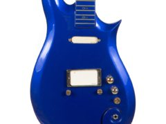 """Prince's """"Blue Angel"""" Cloud 2 guitar, used at the height of the revered rock star's career throughout the 1980s and 90s, has fetched 563,500 dollars (about £456,000) at auction (Julien's Auctions/PA)"""