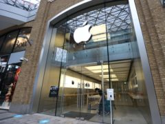 Staff at the Apple Store in Belfast's Victoria Square prepare to reopen today as lockdown eases.