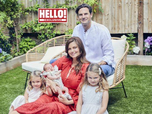 Lady Natasha Rufus Isaacs and her family (Hello! magazine/PA)