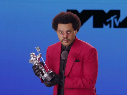 Canadian singer The Weeknd won the coveted video of the year during the MTV VMAs (MTV/PA)