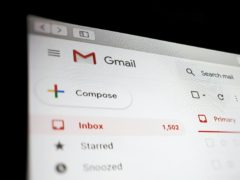 A view of a Google Gmail interface on a laptop (PA)