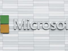 A sign outside Microsoft's offices at South County Business Park in Leopardstown, South Dublin (Niall Carson/PA)