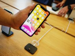 An iPhone 11 on display during the Apple iPhone 11 launch at the tech giant's flagship store in Regent Street, central London (Jonathan Brady/PA)