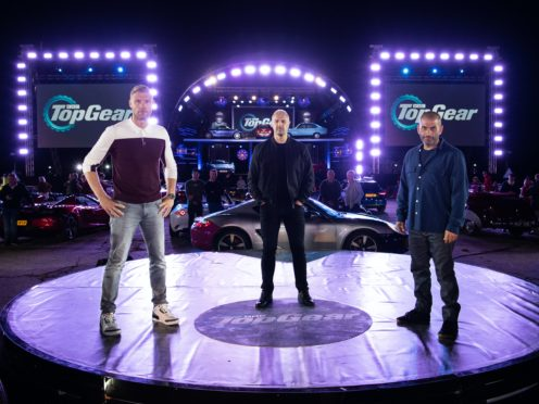 Top Gear hosts Freddie Flintoff, Paddy McGuinness and Chris Harris (BBC)