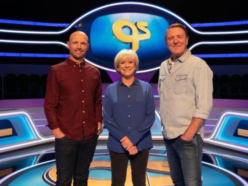 Matt Dawson, Sue Barker and Phil Tufnell (Vishal Sharma/BBC/PA)
