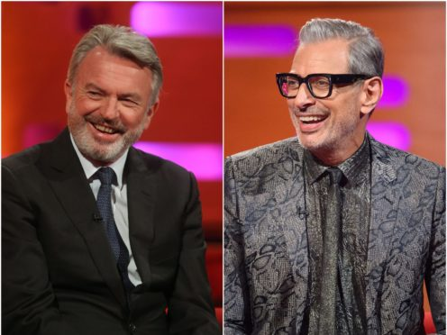 Sam Neill and Jeff Goldblum (Daniel Leal-Olivas/Matt Crossick/PA)