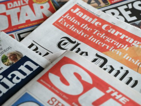 What the papers say – October 26 (PA)