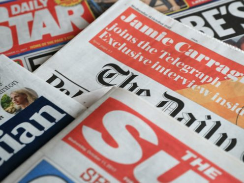 What the papers say – October 27 (PA)
