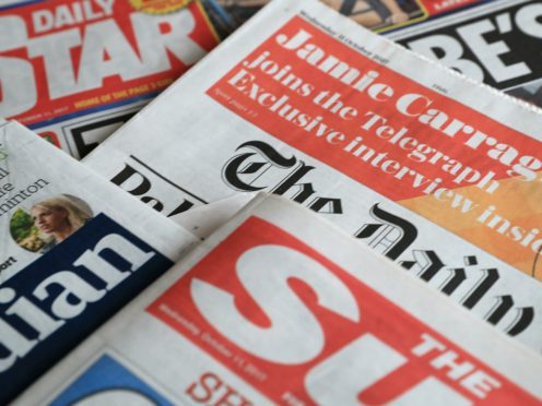What the papers say – October 29 (PA)
