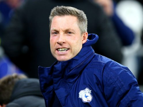 Cardiff manager Neil Harris threatened to swing the axe with his underperforming players (Nigel French/PA)