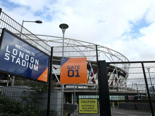 The gates of the London Stadium remain locked (PA)