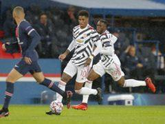 Marcus Rashford hit the winner as Manchester United secured Champions League victory at Paris Saint-Germain. (Michel Euler/AP)