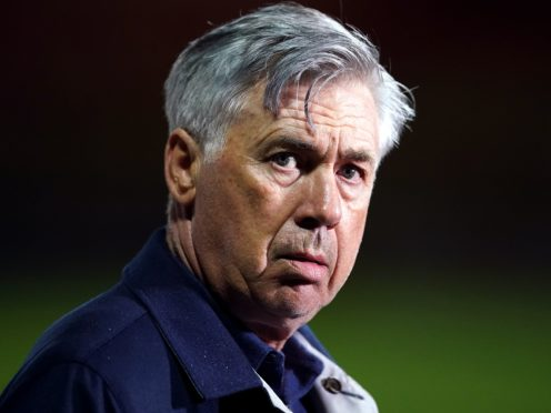Carlo Ancelotti says he will need his whole squad to deliver (Dave Thompson/PA)