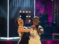 Nicola Adams and Katya Jones on Strictly Come Dancing (Guy Levy/BBC)