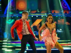 HRVY and Janette Manrara (Guy Levy/BBC/PA)