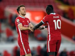 Diogo Jota has made an early bid to join Sadio Mane, Mohamed Salah and Roberto Firmino in a new Liverpool 'Fab Four' (Stu Forster/PA)