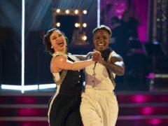 Katya Jones and Nicola Adams (Guy Levy/BBC)