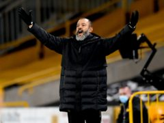 Nuno Espirito Santo wants more first-half goals from Wolves (Stu Forster/PA)